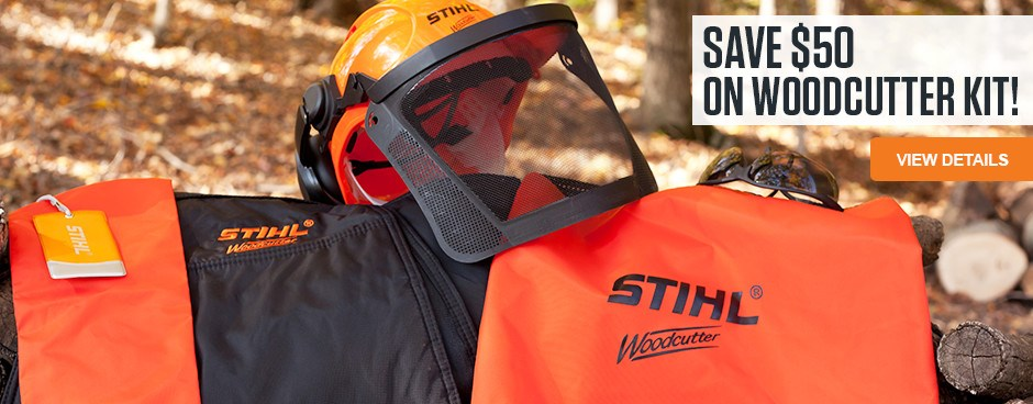 SAVE $50 on STIHL Woodcutter Kit!